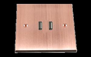 Les interrupteurs bronze blanc